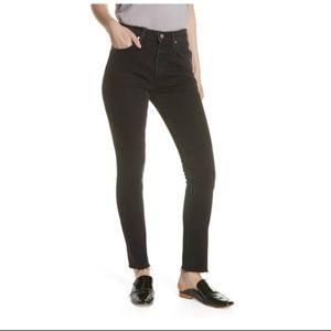 FREE PEOPLE Stella High Waist Skinny Jeans in Blk